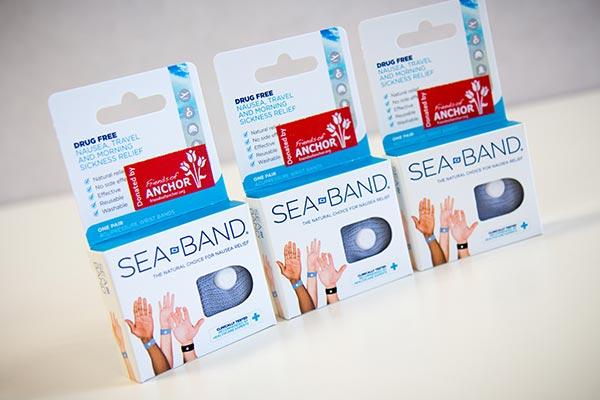 Sea bands to help alleviate nausea